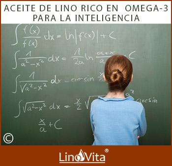 inteligencia de niños y aceite de lino rico en omega 3
