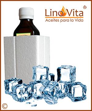 aceites LinoVita prensados en frio sin filtrar refrigerado