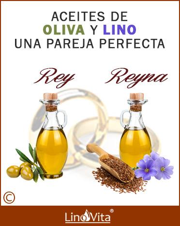 Aceite de oliva (Rey)  y lino (Reyna) una pareja perfecta